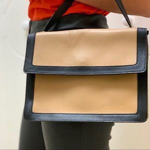 Miu Miu - Vintage Purse - Caramel & Black Leather